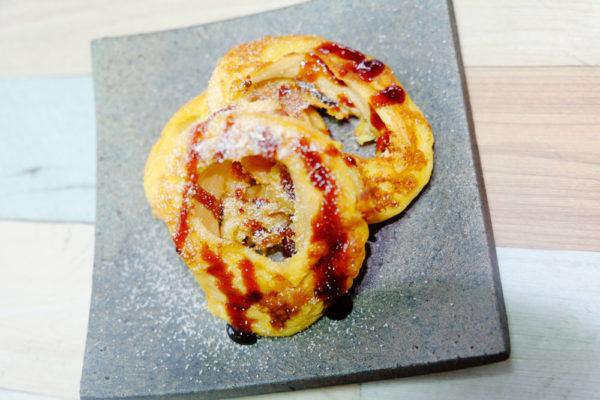 お麩のデザートレシピ『(麩)麩レンチトース』キャラメルVS黒蜜6
