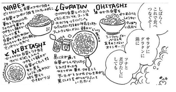 漫画飯★『凪のお暇』で学ぶ節約術⑫:白菜とツナの煮びたし