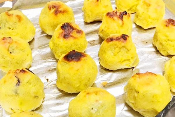 簡単30分【高級和菓子】の生クリーム入りスイートポテトの作り方10