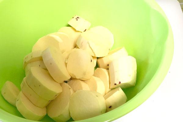 簡単30分【高級和菓子】の生クリーム入りスイートポテトの作り方2