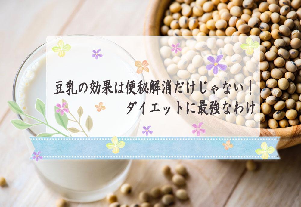 豆乳がもたらす効果は便秘解消だけじゃない!ダイエットに最強なわけ
