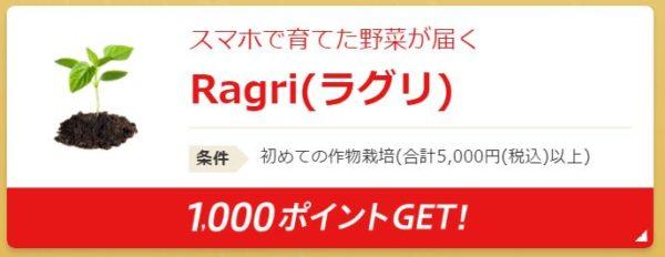 楽天スタートボーナスキャンペーンRagri(ラグリ)