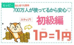 【限定版】ポイントサイト(モッピー)を初めて使う人用の稼ぎ方初級編