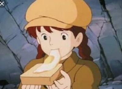 アニメ【天空の城ラピュタ再現レシピ】目玉焼きパン